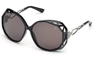 f50ecd44b1c Swarovski Beautiful Sunglasses SK0022 - Shiny Black Frame Color