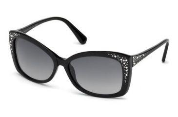 Swarovski Bianca Sunglasses SK0019 - Shiny Black Frame Color