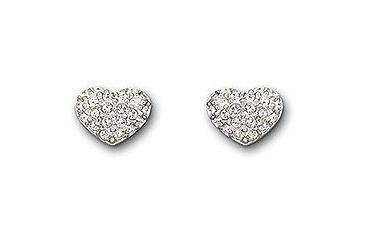 Swarovski Heart Pierced Earrings