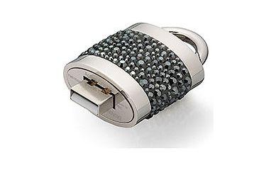 Swarovski Lock Out Jet Hematite USB Memory Key