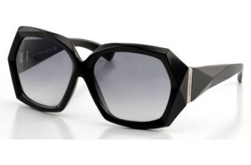 66286746498 Swarovski SK0001 Sunglasses - Shiny Black Frame Color