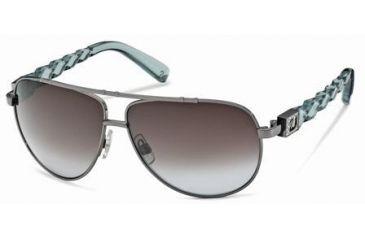 Swarovski SK0003 Sunglasses - Shiny Dark Ruthenium Frame Color