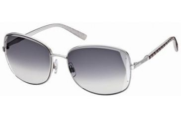 Swarovski SK0007 Sunglasses - Shiny Palladium Frame Color, Gradient Smoke Lens Color