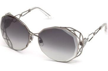 f75b7b728bb Swarovski SK0021 Sunglasses - Shiny Dark Ruthenium Frame Color