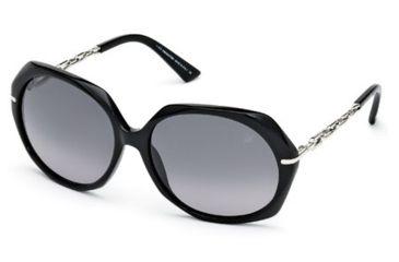 d0ab933d9cf Swarovski SK0031 Sunglasses - Shiny Black Frame Color