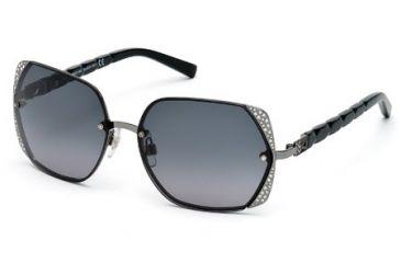 Swarovski SK0033 Sunglasses - Matte Dark Ruthenium Frame Color, Gradient Smoke Lens Color