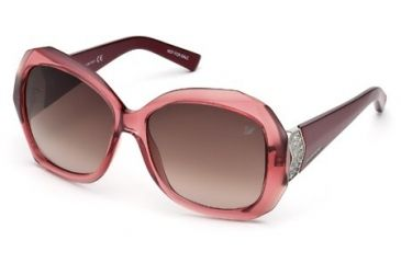Swarovski SK0034 Sunglasses - Pink Frame Color, Gradient Smoke Lens Color