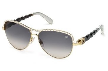 Swarovski SK0037 Sunglasses - Gold Frame Color, Gradient Smoke Lens Color