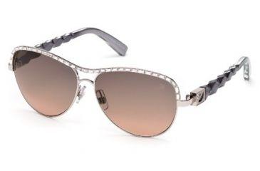 Swarovski SK0037 Sunglasses - Shiny Palladium Frame Color