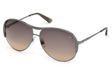 Swarovski SK0039 Sunglasses - Matte Gun Metal Frame Color, Gradient Smoke Lens Color