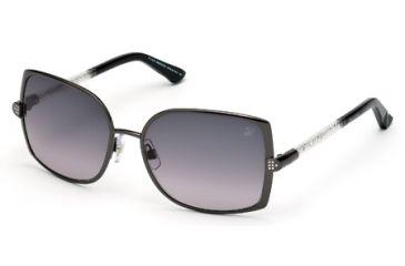 Swarovski SK0043 Sunglasses - Shiny Gun Metal Frame Color, Gradient Smoke Lens Color