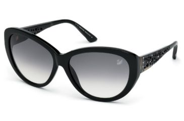 01d53ca42c3 Swarovski SK0053 Sunglasses - Shiny Black Frame Color