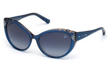 Swarovski SK0055 Sunglasses - Blue Frame Color, Gradient Blue Lens Color