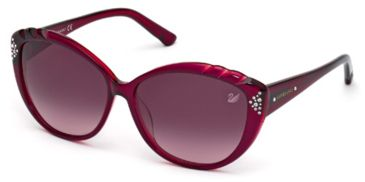 Swarovski SK0056 Sunglasses - Fuxia Frame Color, Gradient Bordeaux Lens Color