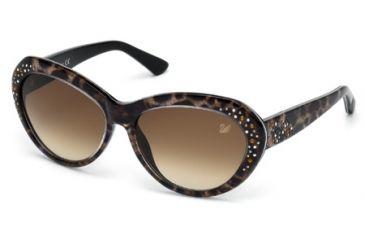 Swarovski SK0060 Sunglasses - Animal Frame Color, Gradient Brown Lens Color