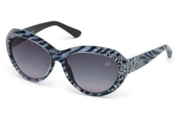 Swarovski SK0060 Sunglasses - Animal Frame Color, Gradient Smoke Lens Color