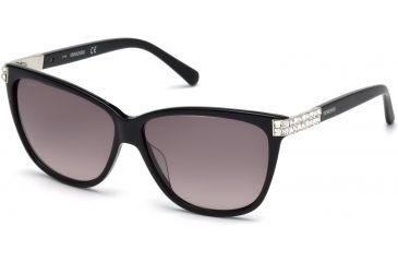185fcd1f232 Swarovski SK0137 Sunglasses - Shiny Black Frame Color