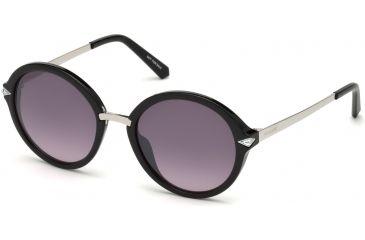 58d420f71ee Swarovski SK0153 Sunglasses - Shiny Black Frame Color