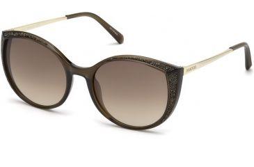 17925bd2979 Swarovski SK0168 Sunglasses - Shiny Light Brown Frame Color
