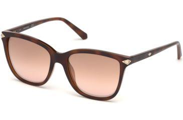 2825d57c459 Swarovski SK0192 Sunglasses - Dark Havana Frame Color