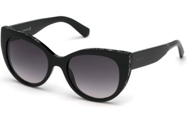 ed3a689d5b0 Swarovski SK0202 Sunglasses - Shiny Black Frame Color