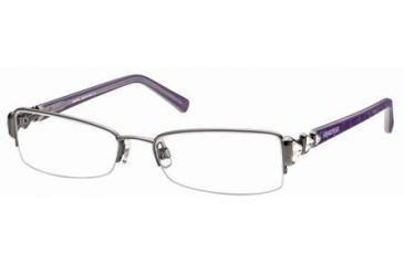 Swarovski SK5022 Eyeglass Frames - Shiny Dark Ruthenium Frame Color