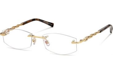 Swarovski SK5042 Eyeglass Frames - Shiny Rose Gold Frame Color