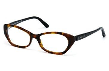 Swarovski SK5067 Eyeglass Frames - Dark Havana Frame Color