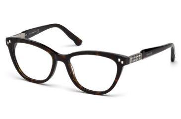 Swarovski SK5088 Eyeglass Frames - Dark Havana Frame Color