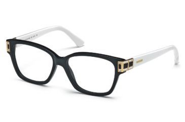 Swarovski SK5090 Eyeglass Frames - Shiny Black Frame Color