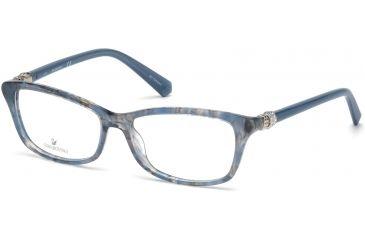 60a22ed0fb Swarovski SK5243 Eyeglass Frames - Shiny Blue Frame Color