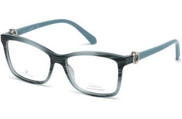 ea4689e63ce6 Swarovski SK5255 Eyeglass Frames - Shiny Turquoise Frame Color