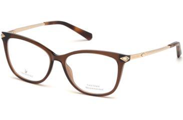 7f83fd5f23d2 Swarovski SK5284 Eyeglass Frames - Light Brown Frame Color