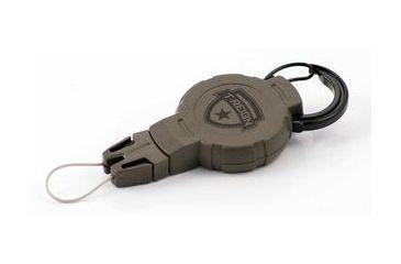T-Reign Medium Retractable Gear Tether Hunting Series, 6oz w/ 36in Kevlar Cord, Carabiner, Camo, Medium 0TR0-215