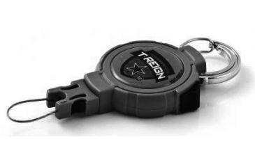 T-Reign Retractable Gear Tether Outdoor Series, Xtra Duty 14oz w/ 36in Kevlar Cord, Carabiner, Black, Large 0TRG-441