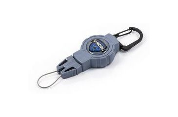T-Reign Small Retractable Gear Tether Outdoor Series, 4oz w/ 24in Kevlar Cord, Carabiner, Blue, Small 0TRG-111