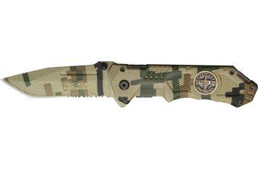 Tac Force Speed Assist Fold Knife 4.50in, Digi canvas camo SS A/O PS tanto blade, Digi canvas camo Alum. handle TF458RG
