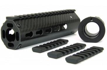 tacfire 8 angled ar 15 carbon fiber keymod free float handguard 4