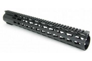 10-Tacfire Slim Keymod Free Float Clamp-On Style Hand Guard w/Detachable Rail