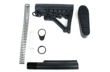 1-Tacfire AR15 Buffer Tube Kit w/6 Position Stock & Buttpad