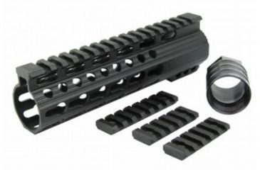 13-Tacfire Slim Keymod Free Float Clamp-On Style Hand Guard w/Detachable Rail