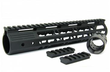 28-Tacfire AR15 Ultra Slim KeyMod Free Float Hand Guard w/Detachable Rails