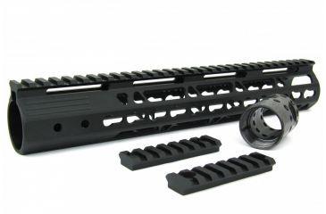 29-Tacfire AR15 Ultra Slim KeyMod Free Float Hand Guard w/Detachable Rails