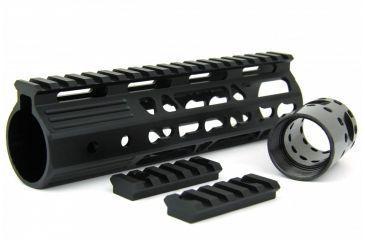 33-Tacfire AR15 Ultra Slim KeyMod Free Float Hand Guard w/Detachable Rails