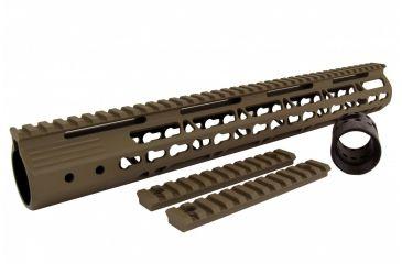 34-Tacfire AR15 Ultra Slim KeyMod Free Float Hand Guard w/Detachable Rails