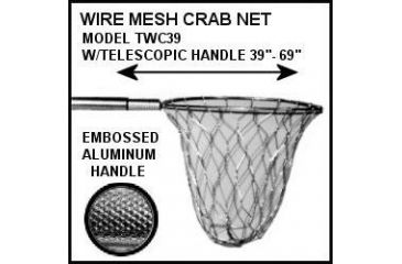 Tackle Factory Almn Wire Crab Net W/Telescpng 823955