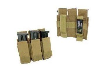 3-Tactical Assault Gear MOLLE Enhanced Pistol Mag (3) Pouch