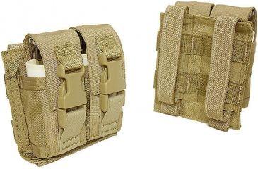 Tactical Assault Gear MOLLE Flash-Bang Grenade 2 Pouch, Ranger Green 812200