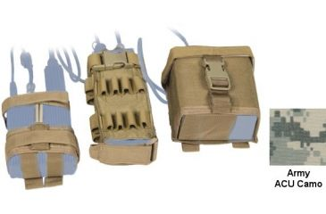 Tactical Assault Gear MOLLE MBITR Amp and Battery Pouch Kit Army ACU 813308