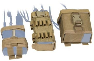 Tactical Assault Gear MOLLE MBITR Amp and Battery Pouch Kit Coyote Tan 813306